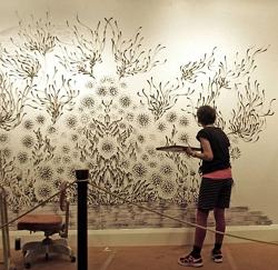 Реклама услуг художественного рисования на стенах